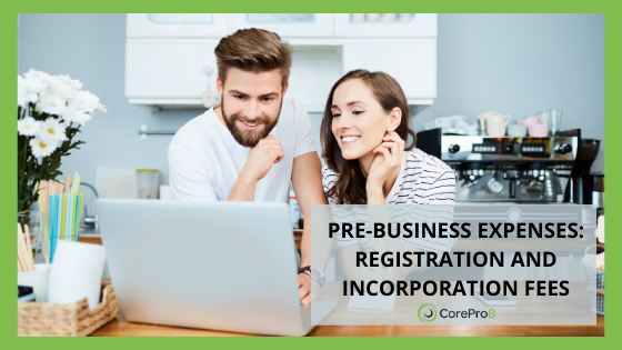 Pre-Business expenses: Registration and incorporation fees