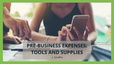Pre-business expenses: Tools and supplies