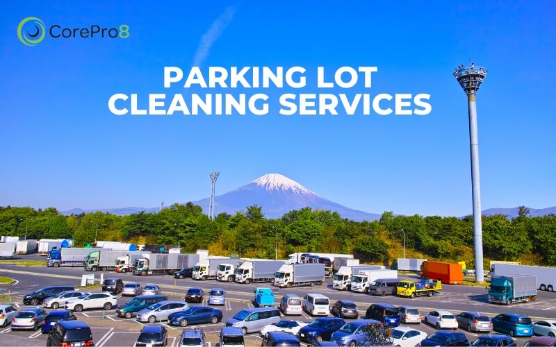 Parking lot cleaning services